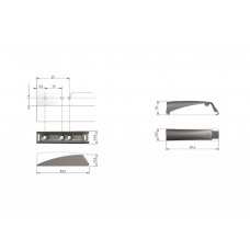 Крепление толкателя Italiana Ferramenta K-PUSH TECH 14 и 20 мм антрацит