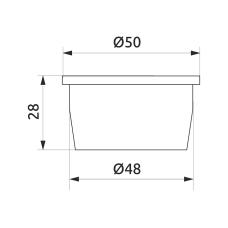 Заглушка трубы d=50 GIFF черный