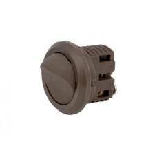 Выключатель мебельный врезной GIFF 3A 250V коричневый