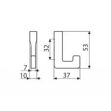 Крючок Gamet WP37-G0008 сатиновый хром