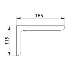 Консоль декоративная GIFF L=180 металлик