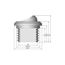 Выключатель мебельный врезной GIFF 3A 250V белый