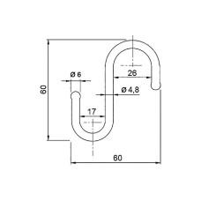 Крючок трубы-рейлинга d=16/25 Ozkardesler хром