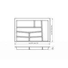 Лоток для столовых приборов 32/76 Volpato 740х490 белый