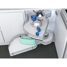 Механизм Combi`S в угловой модуль 900 Inoxa Ellite 846BEY/SX левый хром/белый (2 полки)