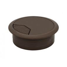 Заглушка кабельная пластиковая GIFF коричневый