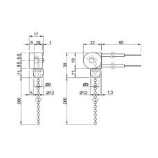 Выключатель мебельный с цепочкой GIFF 3A 250V никель