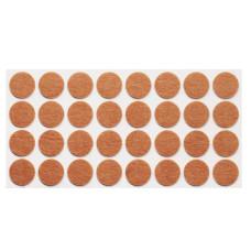 Подпятник самоклеющийся мягкий круглый Weiss d=35 войлок (18 шт)