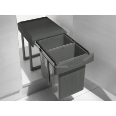 Ведро 2х7,5 л выдвижное для мусора INOXA ардезия