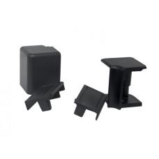 Комплект к плинтусу VOLPATO черный (2 заглушки, 1внешн.+1внутр. угол) L=4200 16х26мм