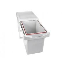 Ведро 16 л выдвижное для мусора INOXA серый
