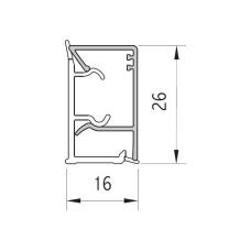 Плинтус VOLPATO черный глянец 16х26мм, L=4200
