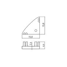 Заглушка для углового профиля GTV серый (PA-ZASGLAXKT-00)
