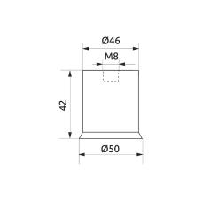 Втулка распорная с гайкой d=50 GIFF черный