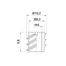 Муфта металлическая GIFF М6х10