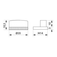 Крепление для зеркала боковое GIFF хром