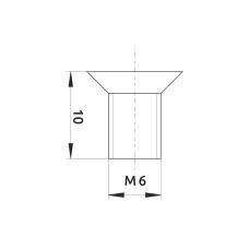 Винт к уголку металлическому одинарному GIFF М6х10