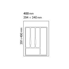 Лоток для столовых приборов Volpato 340х490 белый