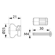 Заглушка трубы-рейлинга d=16 GIFF Ретро хром