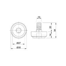 R-13M Стопка металлическая GIFF хром