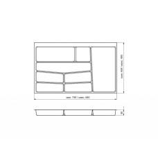 Лоток для столовых приборов 32/76 Volpato 840х490 белый