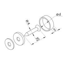 Крепление для стекла GIFF d=14 хром