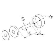 Крепление для стекла GIFF d=18 хром