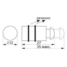 Крепление для стекла одностороннее с винтом GIFF хром