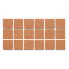 Подпятник самоклеющийся мягкий квадратный Weiss 35х35 войлок (18 шт)